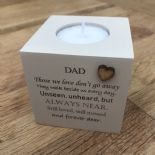 Shabby Personalised Chic Candle In Memory of a Loved one Dad Mum Nan Grandad etc - 232687822752